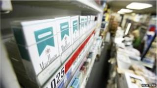 Menthol cigarettes on a shop shelf, file picture