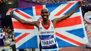 Mo Farah at the London 2012 Olympic Games
