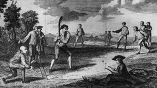 18th Century cricket painting