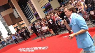 Steve Coogan as Alan Partridge at Anglia Square, Norfolk for Alpha Papa premiere