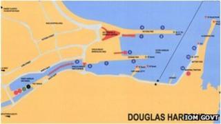 Map of Douglas Harbour, Isle of Man
