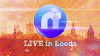Newsround's Live in Leeds logo