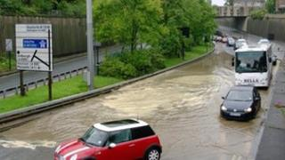 Flooding on Central Motorway