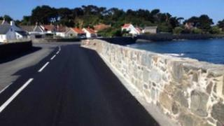 Perelle sea wall