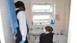 Search being carried out by officers at an address at Handen Road SE12 this morning