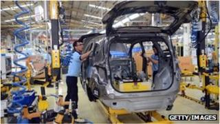 GM production line in Indonesia