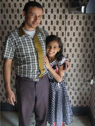 Nada al-Ahdal and her uncle, Abdulsalam al-Ahdal