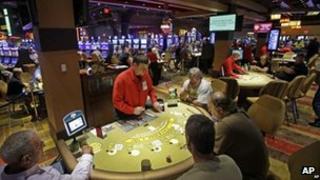 Casino interior, file picture