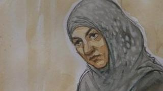 Court artist's image of Nasreen Akhtar
