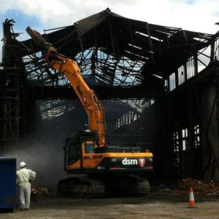 Lawrence fire demolition