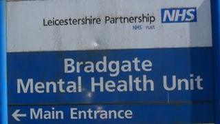 Sign outside Bradgate Mental Health Unit