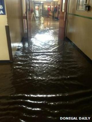 Flooding in Letterkenny Hospital