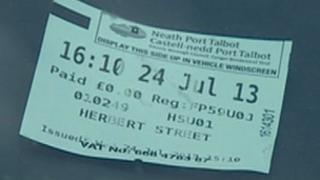 Pay and display ticket