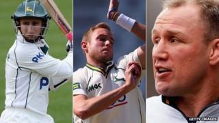 James Taylor, Stuart Broad and Neil Back