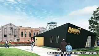 Artist impression of new Haig Colliery of Mining Museum