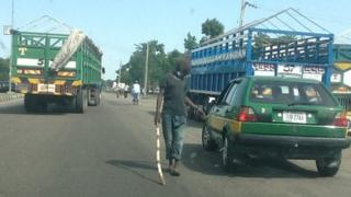 Vigilante checkpoint in Maiduguri