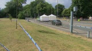 Police investigate a suspected murder at Gloucester Park