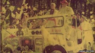Pope in Sarao Motor Jeepney