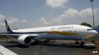 A Jet Airways plane