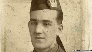 Mr Corlett from Douglas in the Isle of Man was, alongside his brother, wounded and taken prisoner during the war