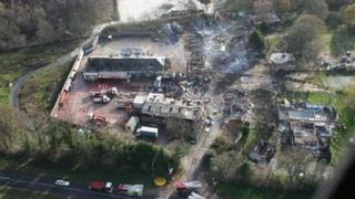 Photo of accident site on the day after the explosion
