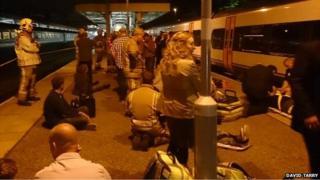 Train crash at Norwich station