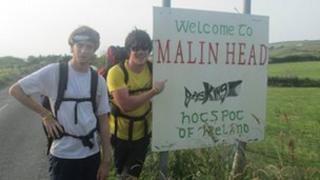 Josh and Matthew at Malign Head