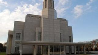 The Preston Temple of the Latter Day Saints in Chorley