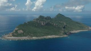 One of the disputed islands, in an image released by the Japanese Maritime Self-Defence Force on 15 September 2010