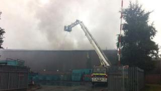 Fire at H W Martins Waste