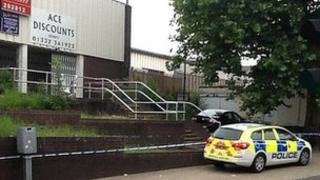 Police at Normanton Road
