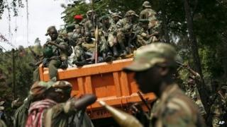 M23 rebels in Goma, eastern DR Congo - December 2012