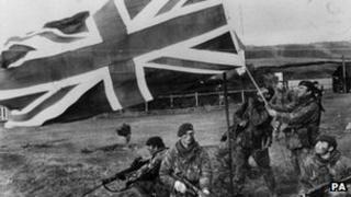 UK troops in Falklands