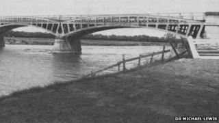The old wroght iron bridge