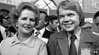 Margaret Thatcher and William Hague in 1977