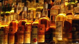 Bottled whisky