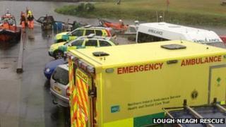 Rescue teams at scene