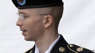 Bradley Manning in Fort Meade, Maryland 30 July 2013