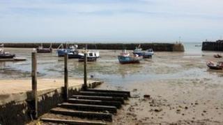 Boats in Folkestone Harbour