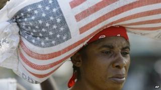 A woman in Haiti