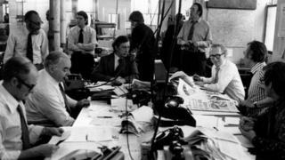 Evening Standard newsroom in 1975