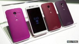 Moto X handsets on display