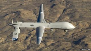 US Air Force MQ-1 Predator drone (file picture)