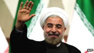 Iranian president-elect Hassan Rouhani in Tehran on 17 June 2013