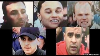 Clockwise: Dean Ford, James Lubruna, Michael Harding, Duran Thaws, Luke Selman