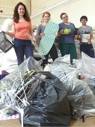 Nine tonnes of unwanted items were collected