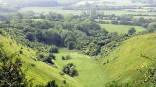 The Devil's Kneading Trough in the Wye Downs