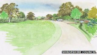 artists impression new cemetery