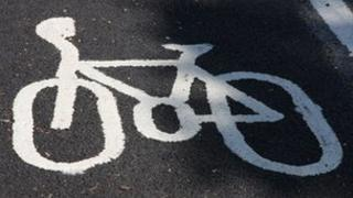 Cycle path sign