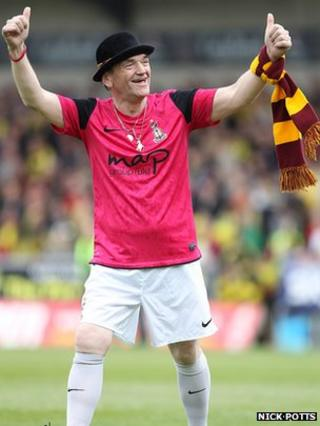 Lenny Berry on Bradford City pitch in May 2013